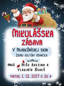 plagat Mikulasska zabava